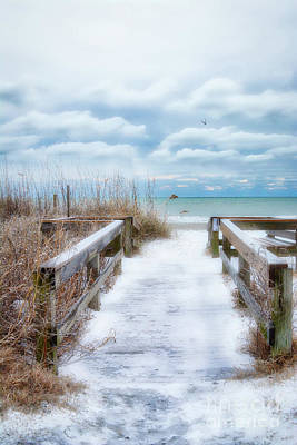 Photograph - Snow On The Beach 9 by Kathy Baccari