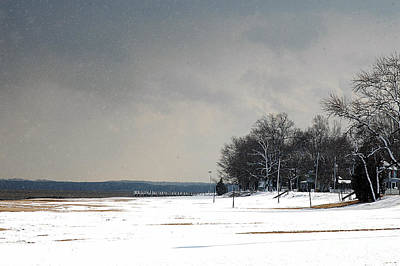 Photograph - Snow On The Beach by Clayton Bruster