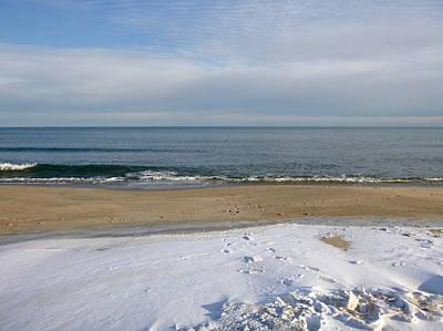 Photograph - Snow On The Beach by Ellen Paull