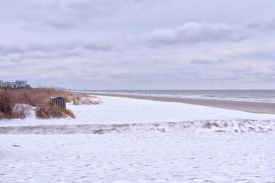 Photograph - Snow On The Beach I by Kathy Baccari