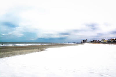 Photograph - Snow On The Beach 2 by Kathy Baccari