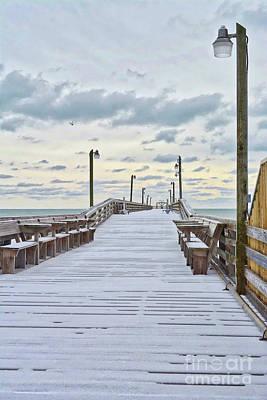 Photograph - Snow On The Beach 3 by Kathy Baccari