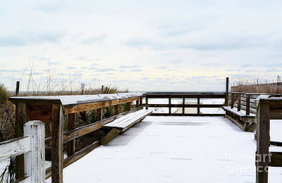 Photograph - Snow On The Beach 5 by Kathy Baccari