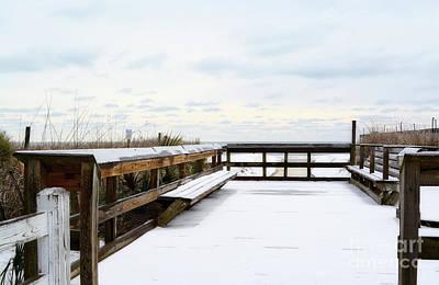 Photograph - Snow On The Beach 5 by Kathy Baccari
