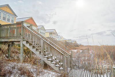 Photograph - Snow On The Beach 6 by Kathy Baccari