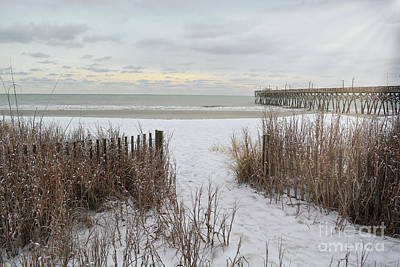 Photograph - Snow On The Beach 7 by Kathy Baccari
