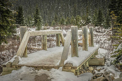 Photograph - Snow On The Bridge by Bill Howard