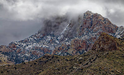 Photograph - Snow On The Catalina's by Elaine Malott