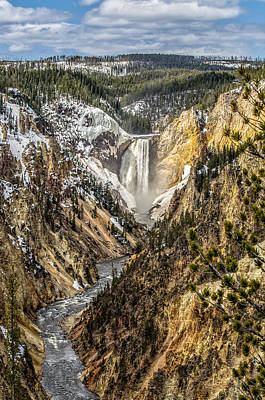 Snow On The Falls Art Print by Yeates Photography