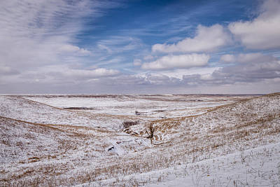 Photograph - Snow On The Flint Hills by Scott Bean