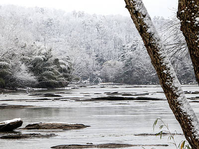 Digital Art - Snow On The Hooch by Kathleen Illes