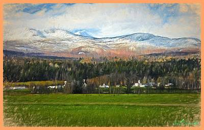 Digital Art - Snow On The Mountains by John Selmer Sr