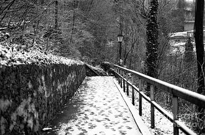 Photograph - Snow On The Path In Salzburg by John Rizzuto