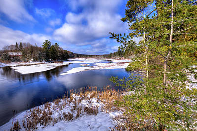 Photograph - Snow On The River by David Patterson