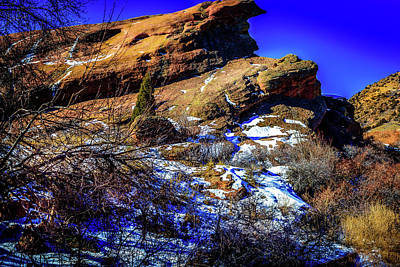 Photograph - Snow On The Rocks by Barry Jones