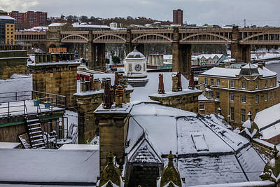 Photograph - Snow On The Rooftops by David Pringle