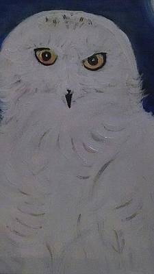 Painting - Snow Owl by Debby Reid
