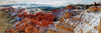 Photograph - Snow Panorama Of Bryce Canyon by Mike Shaw