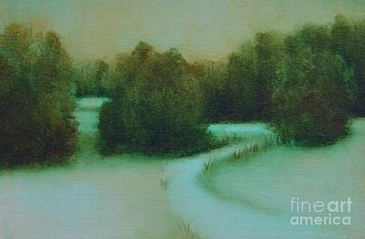 Snow Path Art Print by Jana Baker