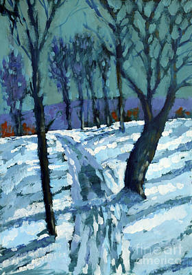 Snow Scene Painting - Snow by Paul Powis