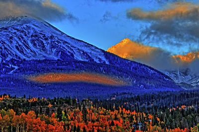 Art Print featuring the photograph Snow Peak Fall by Scott Mahon