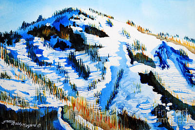 Painting - Snow Peak by Tracy Rose Moyers