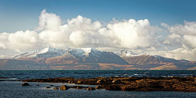 Photograph - Snow Peaks Isle Of Arran by Alex Saunders