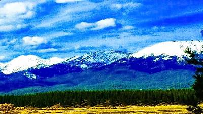 Photograph - Snow Peaks by Jennifer Lake