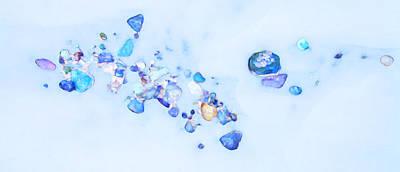 Photograph - Snow Pebbles Abstract by Theresa Tahara