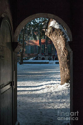 Photograph - Snow Peek Of College Of Charleston  by Dale Powell