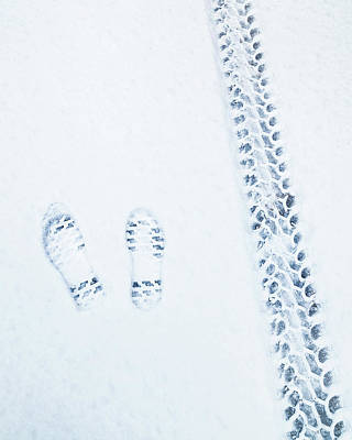 Photograph - Snow Prints by Chris M