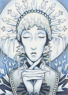 Snow Queen Slumbers Art Print by Amy S Turner