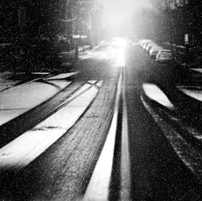 Snowy Night Photograph - Snow Removal by Diana Angstadt
