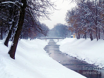Photograph - Snow River by Nina Ficur Feenan