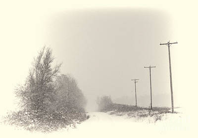 Photograph - Snow Scene by Erica Hanel