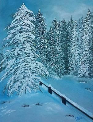 Snow Scenery Original by Judy Jones