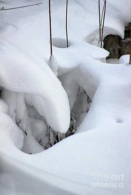 Photograph - Snow Sculptures Scene by Karen Adams