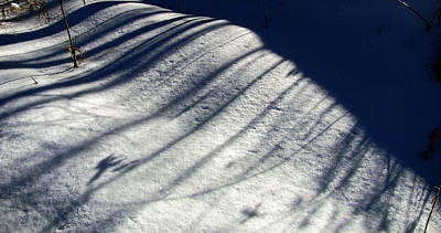 Photograph - Snow Shadow 1 by Douglas Pike