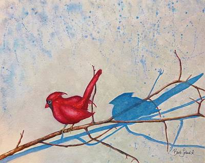Painting - Snow Shadows by Barb Toland
