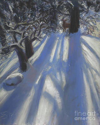 Painting - Snow Shadows by Susan Sarabasha