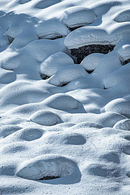 Photograph - Snow Shapes On A Hillside #4 - Yellowstone by Stuart Litoff