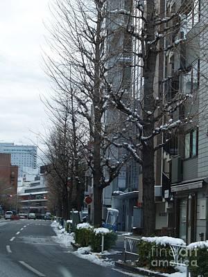 Snow Shibuya Tokyo Japan Art Print by Lee Tinglu