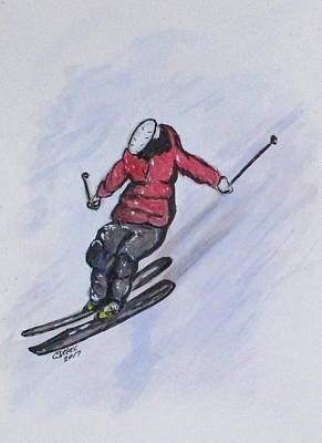 Painting - Snow Ski Fun by Clyde J Kell