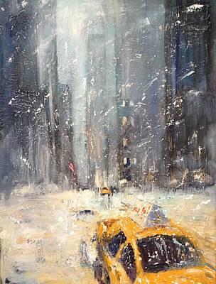 Painting - Snow Snow Snow... by NatikArt Creations