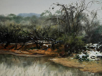 Outdoor Still Life Painting - Snow-spring Is Coming by Dengke Zhang
