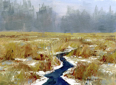 Painting - Snow Squall by Mary Byrom