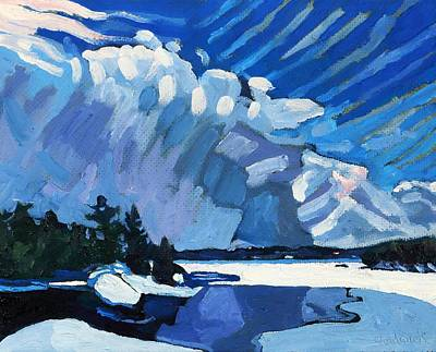 Cloudy Day Painting - Snow Squalls by Phil Chadwick