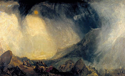 United Kingdom Painting - Snow Storm, Hannibal And His Army Crossing The Alps by JMW Turner
