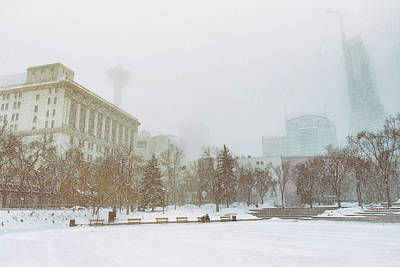 Photograph - Snow Storm In Calgary by Martin Capek