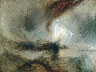 Print featuring the painting Snow Storm by Joseph Mallord William Turner